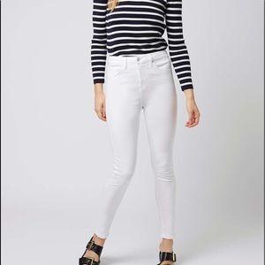Topshop White Jamie jeans